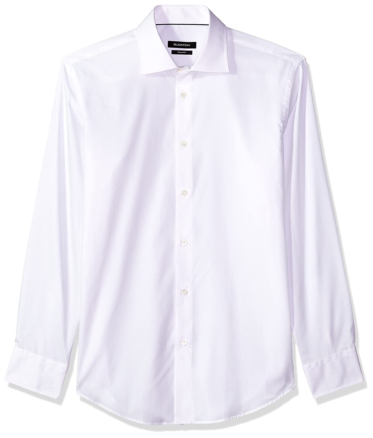 Bugatchi Mens Tailored Fit Soft Finished Pointed Collar Dress Shirt