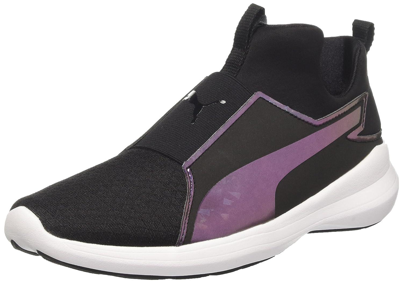 Puma Damen Rebel Mid WNS Swan Sneakers, White White 02  37.5 EU|Schwarz (Puma Black-puma Black 01)