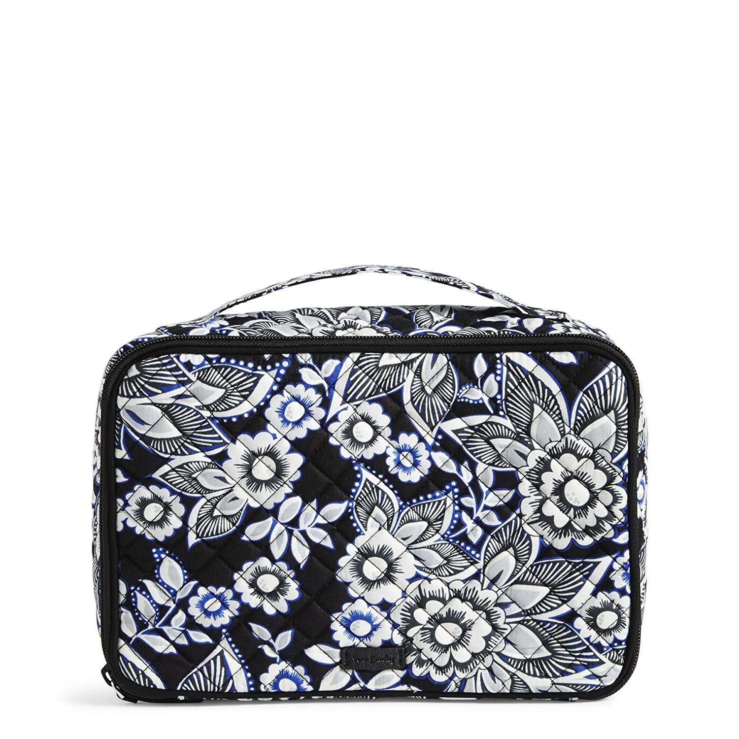 Vera Bradley Women's Signature Cotton Large Blush & Brush Cosmetic Makeup Case