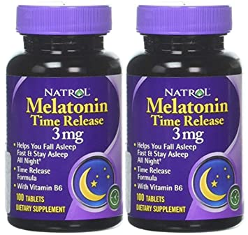 Natrol Melatonin Time Release 100 tablets, 3mg (2 Pack)