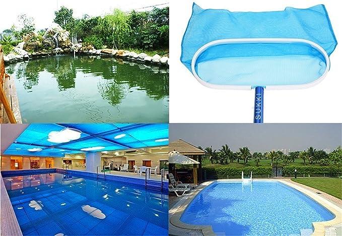 SXYHKJ Recogehojas para Piscinas, Pool Net Leaf Skimmer, Red para Piscinas de Plástico Resistente Profunda para Recoger Hojas, Recogedor de Hojas Plano para ...