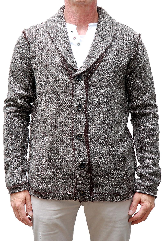 khujo Men's vest Gilet Grey Anthra