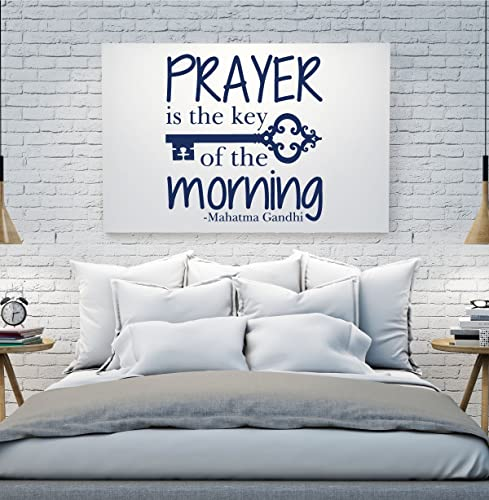 com quote wall decals prayer is the key of the morning