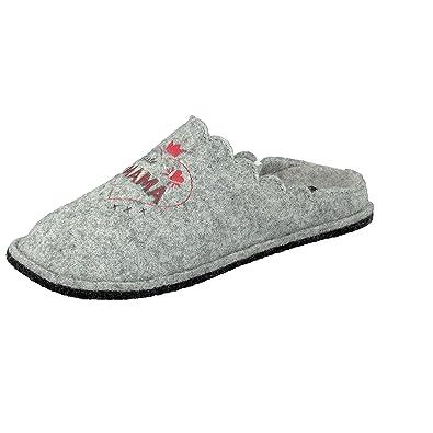 Supersoft Damen Hausschuhe Pantoffeln Herz Beste Mama 522 220 in Grau (36 EU) HFYIQ8