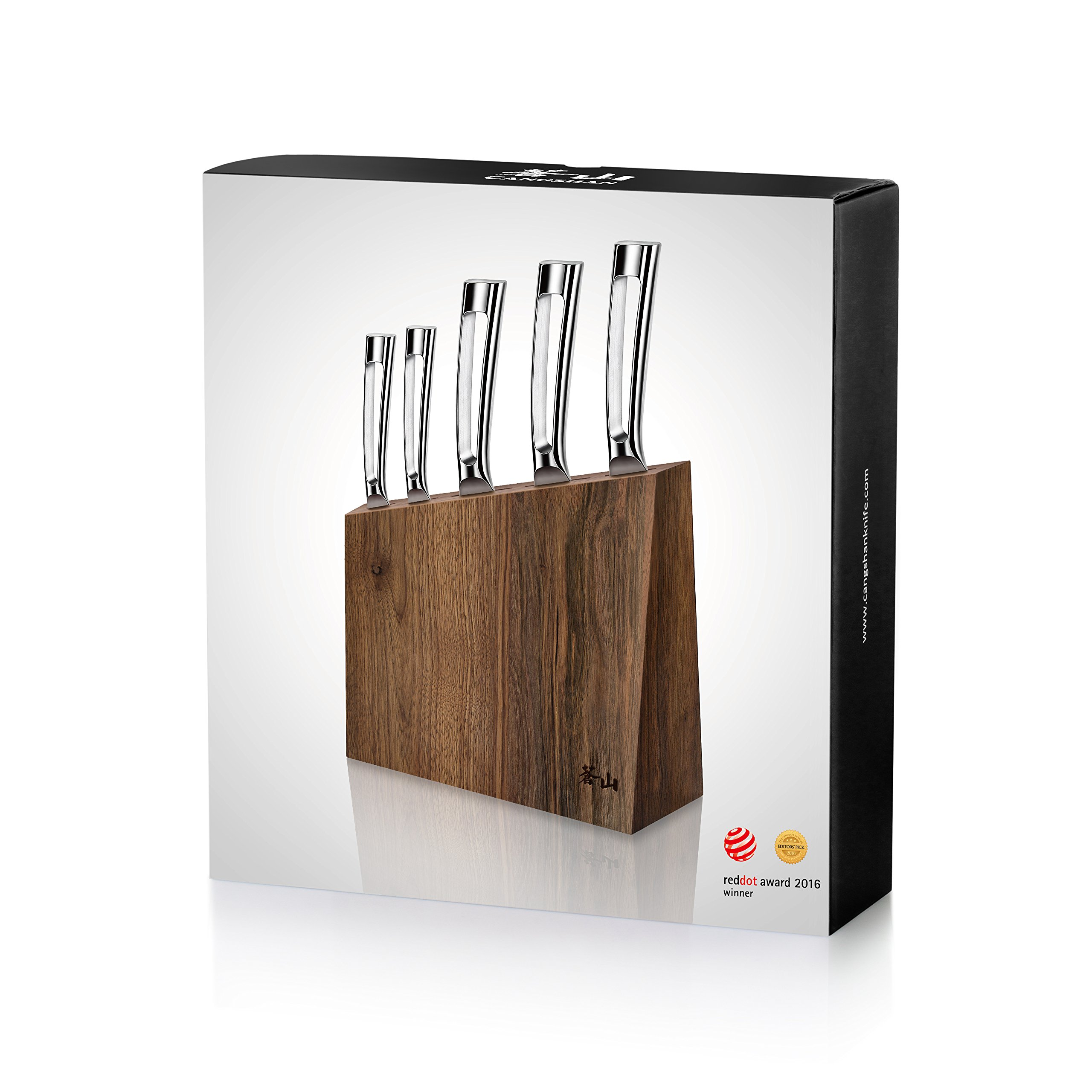 Cangshan N1 Series 61017 6-Piece German Steel Forged Knife Block Set, Walnut Block by Cangshan (Image #8)