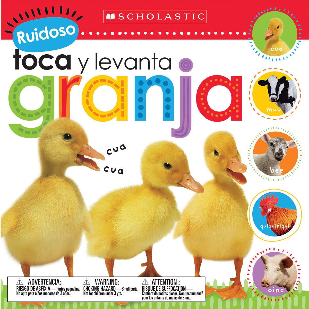 Ruidoso Toca y Levanta: Granja (Scholastic Early Learners)