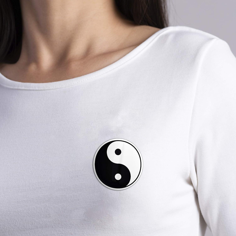 Hellweg Druckerei Button Anstecker Yin und Yang China Yoga Joga Harmonie Liebe Abzeichen Pin