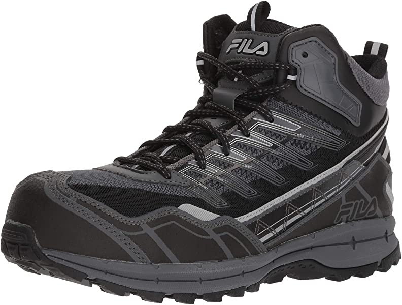 64d5c9c22310 Amazon.com  Fila Men s Hail Storm 3 Mid Composite Toe Trail Work ...