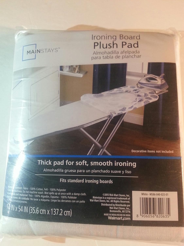 Mainstays Ironing Board Plush Pad White Standard Size 14x54