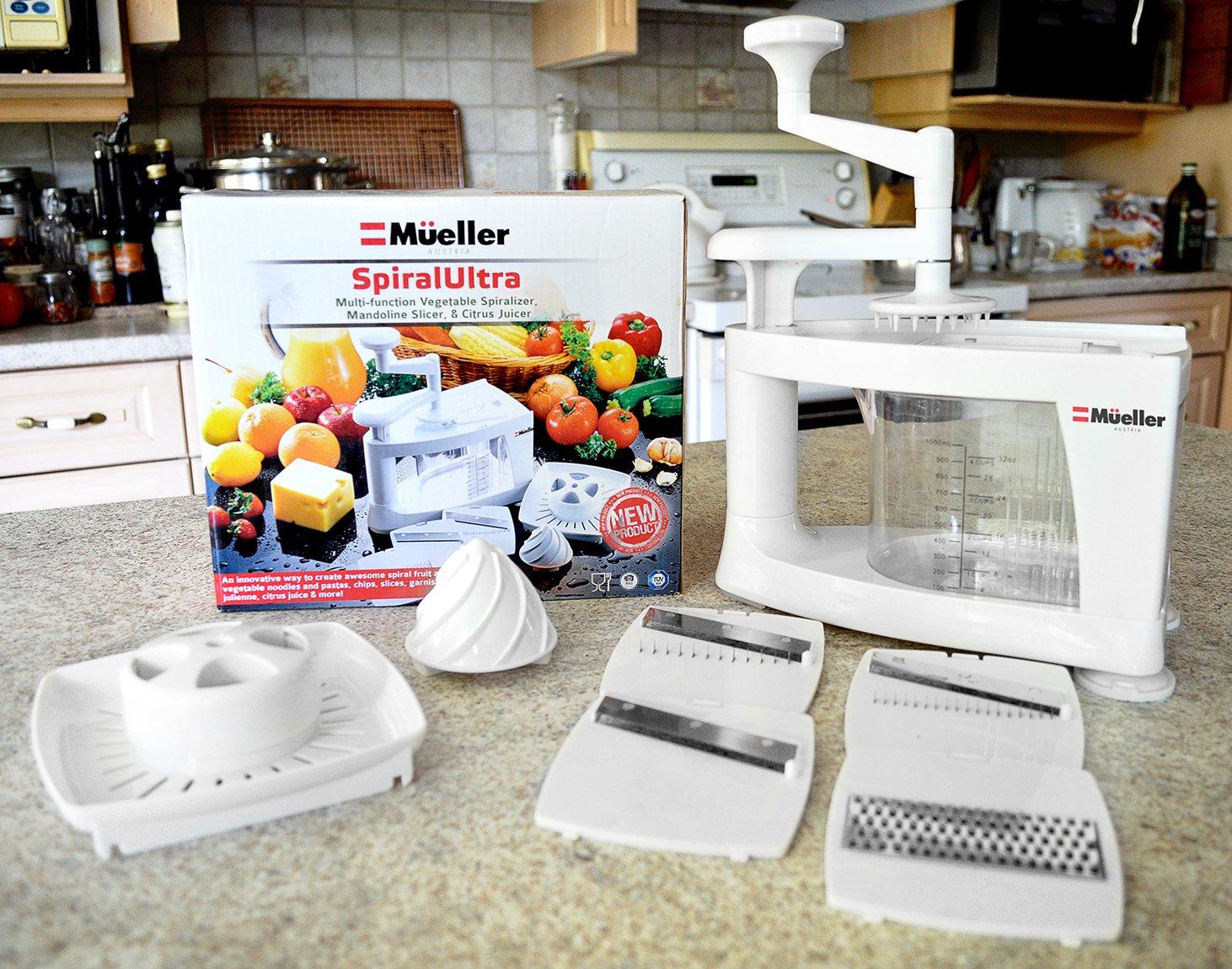 Mueller Spiral-Ultra Multi-Blade Spiralizer, 8 into 1 Spiral Slicer, Heavy Duty Salad Utensil, Vegetable Pasta Maker and Mandoline Slicer for Low Carb/Paleo/Gluten-Free Meals by Mueller (Image #6)