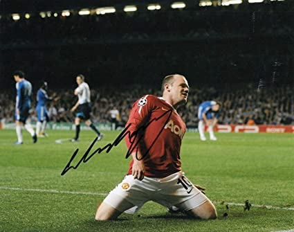 pretty nice f022b 0b6db Signed Wayne Rooney Photograph - MANCHESTER UNITED *ENGLAND ...