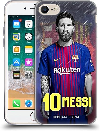 Head Case Designs Officiel FC Barcelona Lionel Messi 2017/18 Première Équipe Groupe 1 Coque en Gel Doux Compatible avec Apple iPhone 7 / iPhone 8 / ...