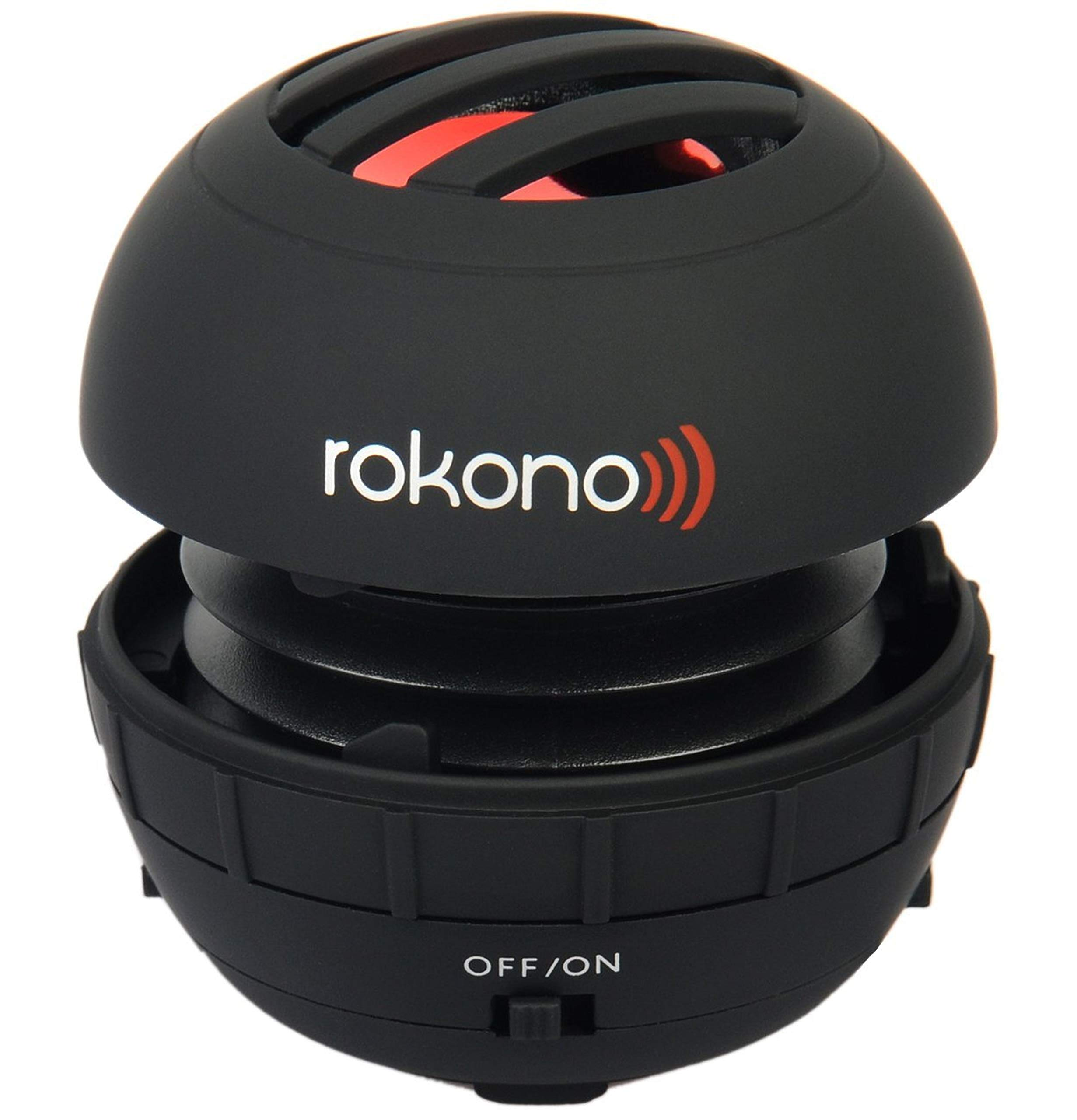 Rokono BASS+ Mini Speaker for iPhone / iPad / iPod / MP3 Player / Laptop - Black by Rokono