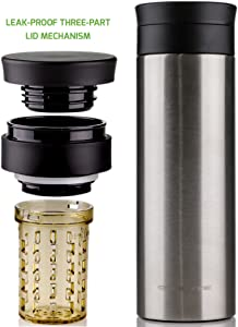 Ovente 16 Ounce Tumbler Vacuum Insulated Travel Mug, 16 oz, Brushed Stainless Steel