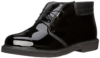 Bates Men's Lites High Gloss Padded Collar Chukka,Black,3 ...