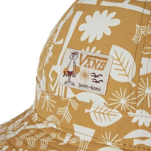 d3b791c7eda Amazon.com  Vans Yusuke Bucket Hat White S M  Clothing