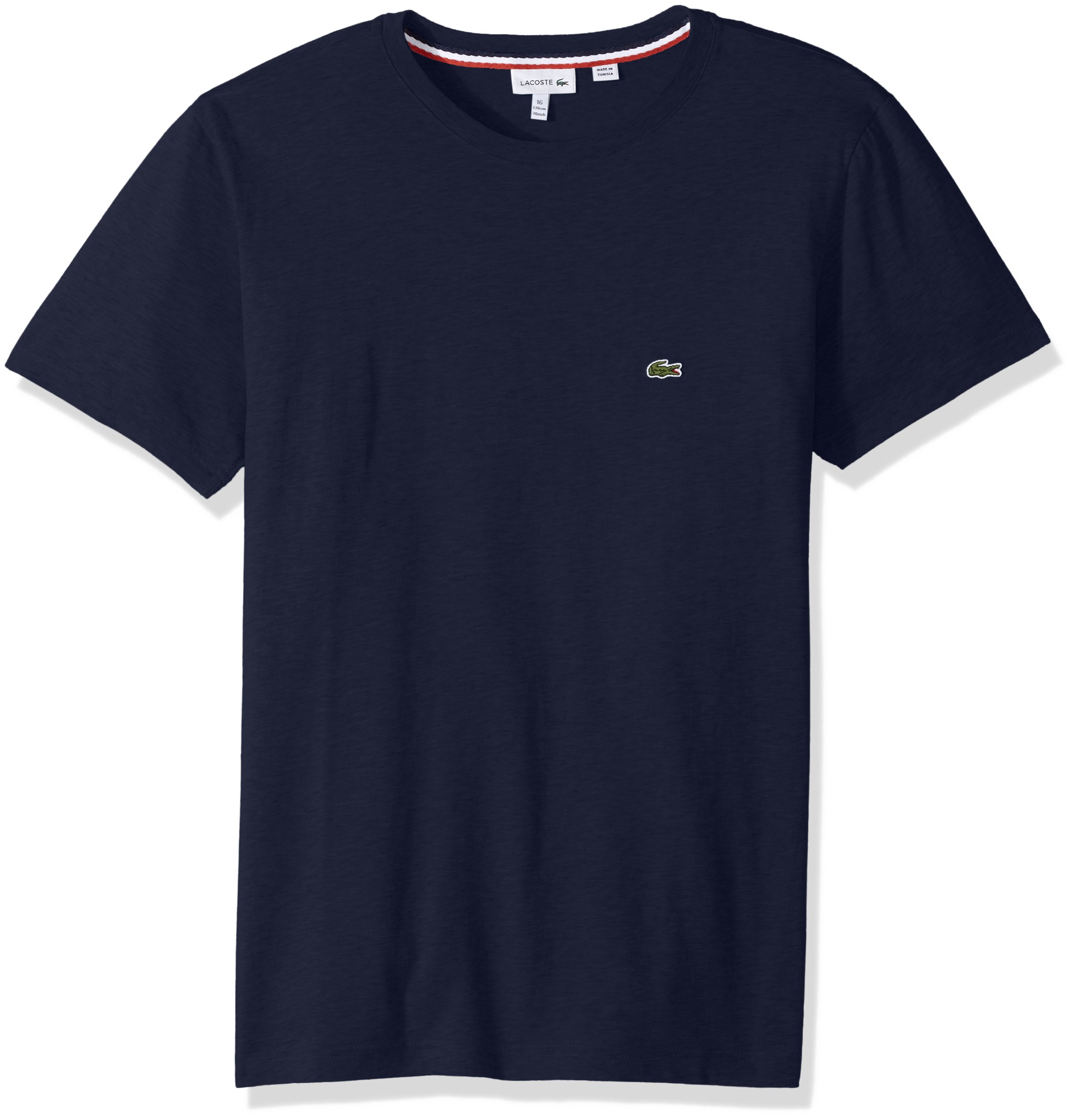 Lacoste Boys' Big Crew Neck Cotton Jersey T-Shirt, Navy Blue, 12Y