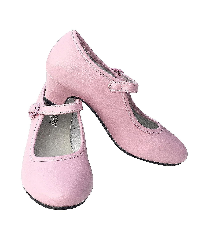 Talla 26-18 cm, Rosa La Se/ñorita Zapato Flamenco Princesa Bailarinas Baile Sevillanas ni/ña Rosa