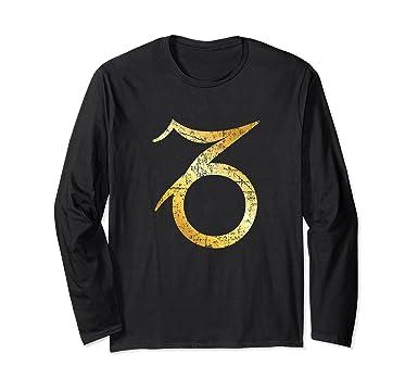 Amazon Zodiac Sign Capricorn Shirt Ancient Gold Clothing