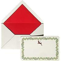 Maritera Yılbaşı Geyik Yazısız Tebrik Kartı ve Zarfı (10'lu Kutu)