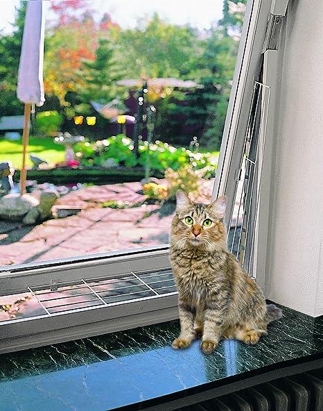 Malla metalica ventanas 65x16 cm blanco TRIXIE Seguridad para gatos en casa