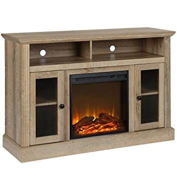 Amazon Com Ameriwood Home Chicago Fireplace Tv Stand For Tvs Up To
