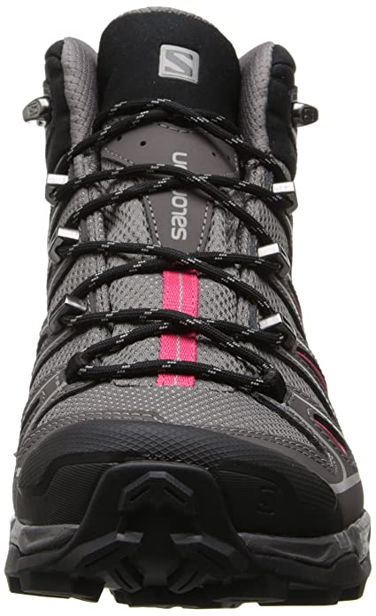Salomon X Ultra Mid 2 GTX® - Zapatos Mujer, Gris (Detroit / Autobahn / Hot Pink), 42 EU: Amazon.es: Zapatos y complementos