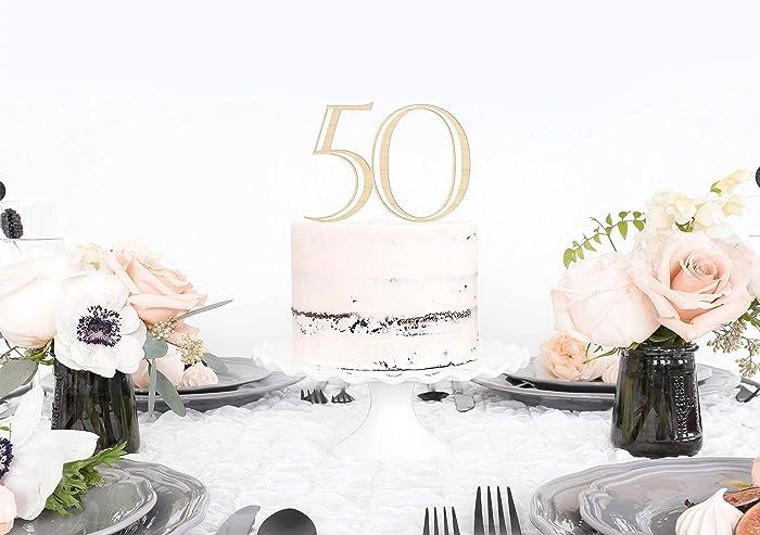 Amazon 50th Birthday Cake Topper 50th Birthday Cake Topper