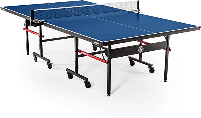 Amazon.com : STIGA Advantage Competition-Ready Indoor Table Tennis Table 95% Preassembled Out of the Box with Easy Attach and Remove Net : Sports & Outdoors