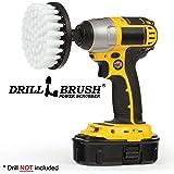 4 inch Drill Brush Soft Bristle White Quick Change Shaft