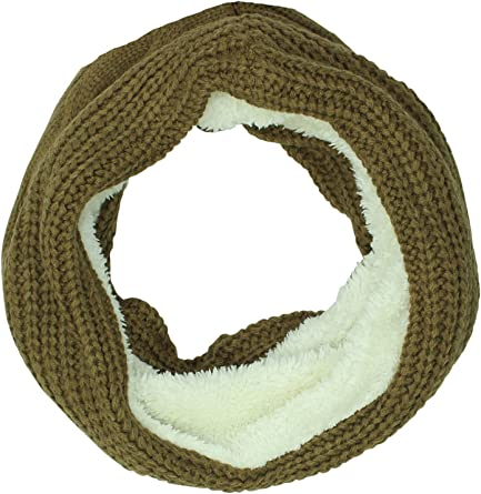 aihihe Women Winter Warm Scarfs Ribbed Knit Neck Warmer Soft Fleece Lined Thick Circle Loop Long Scarf Scarves