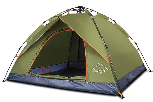 8 opinioni per Toogh Campeggio Meccanismo Automatica 2 Persone Per Escursionismo Tenda