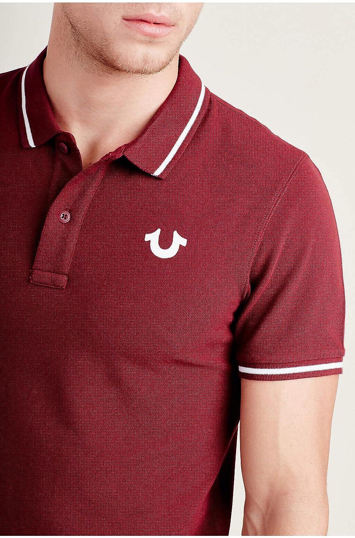 True Religion Mens Crafted With Pride Logo Polo Shirt Christmas