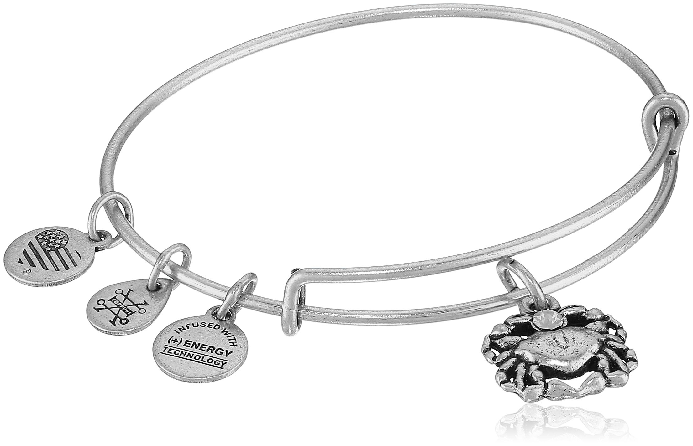 Alex and Ani Crab II Rafaelian Silver Bangle Bracelet