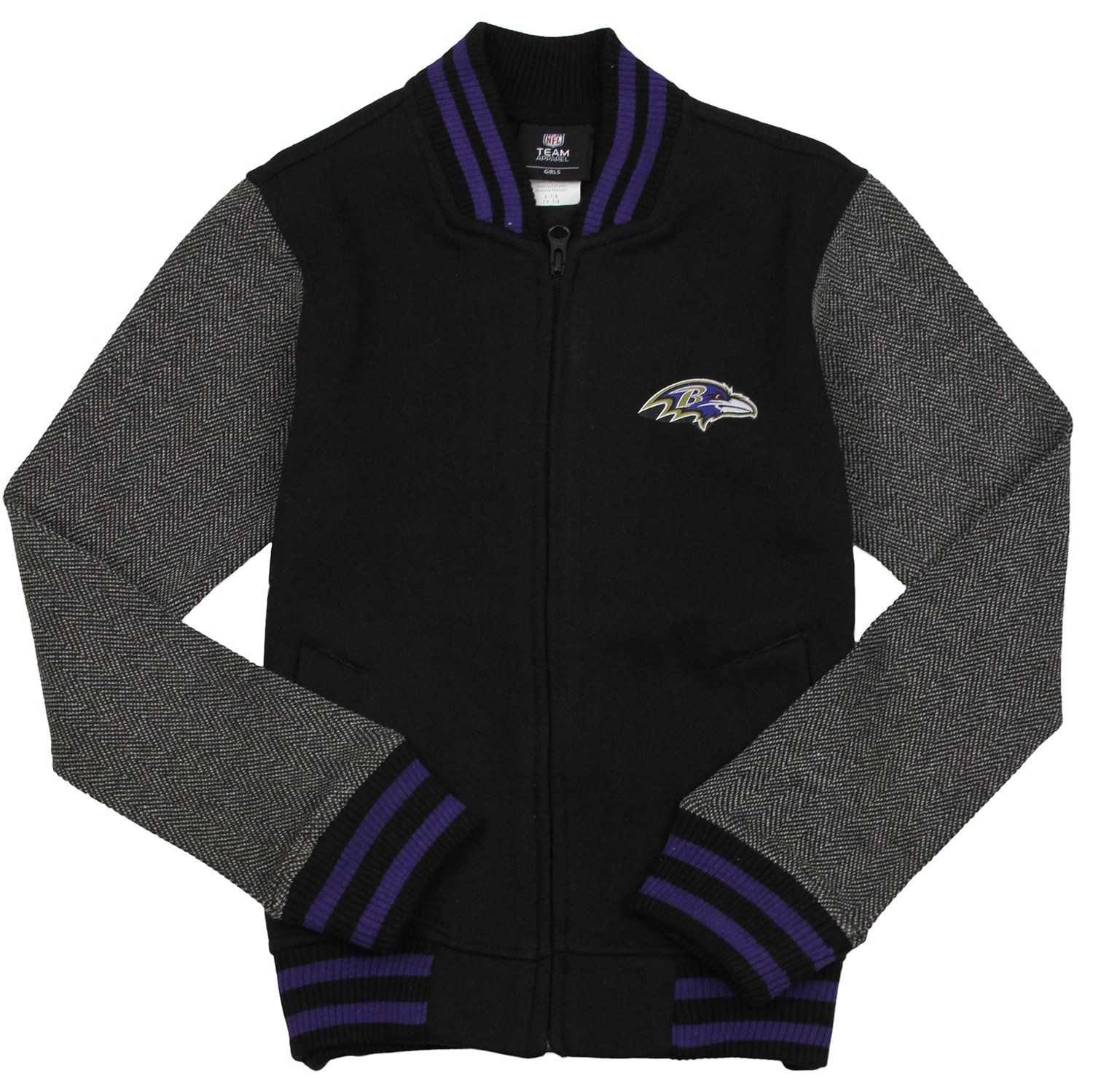 new style 313f1 7e59d Amazon.com : Outerstuff NFL Baltimore Ravens Big Girls Youth ...