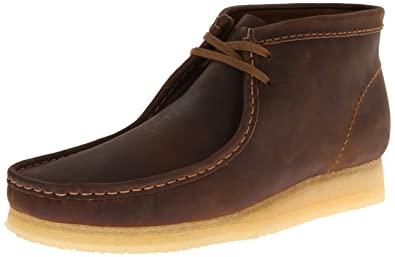 32bd2ebc3ab CLARKS Men's Wallabee Boot, Beeswax Leather, 7.5 D-Medium