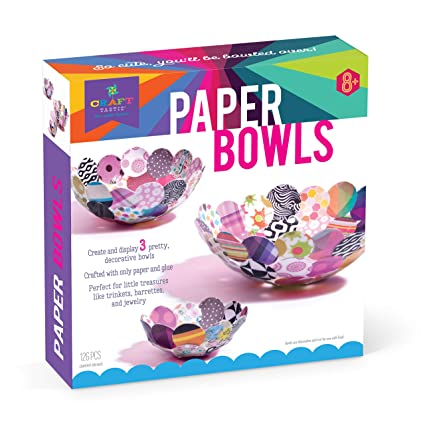 Amazon Com Craft Tastic Paper Bowl Kit Craft Kit Makes 3