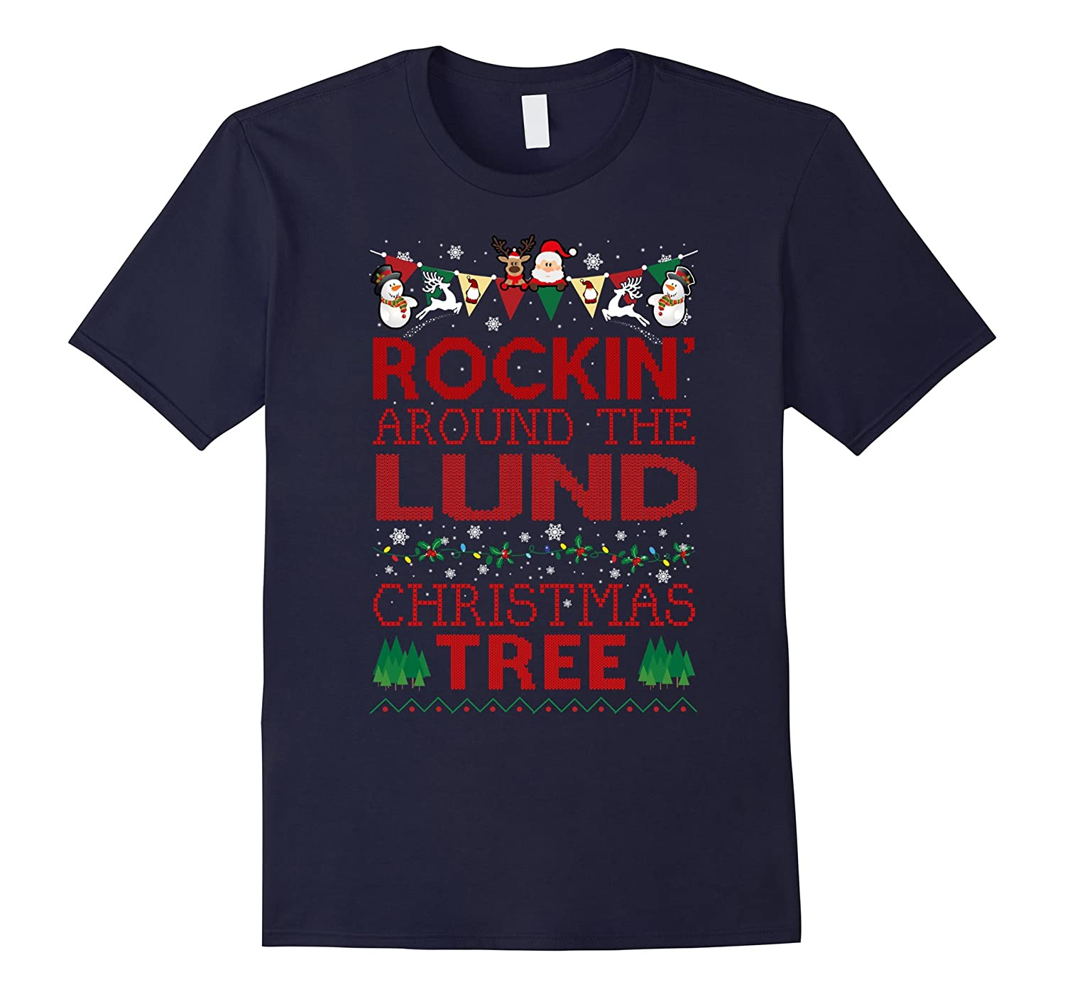 Lund Family Christmas T-shirt-RT