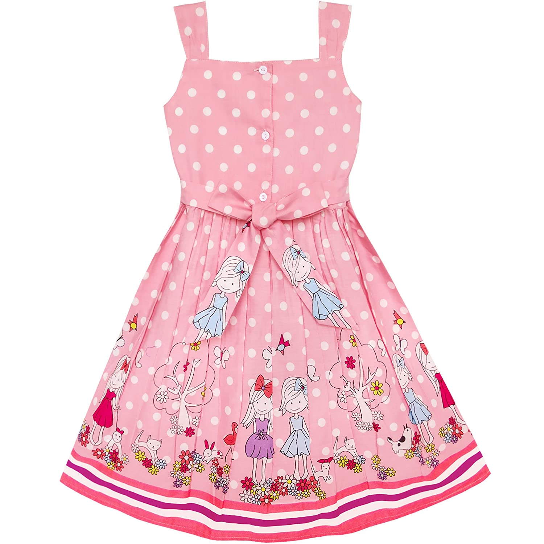 Sunny Fashion Rosa Vestido para niña Azul Bicho Rosa Sunny Dot Dot ...
