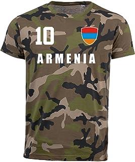 Druck Name inkl Nr Armenien KINDER T-Shirt Trikot Look Fußball