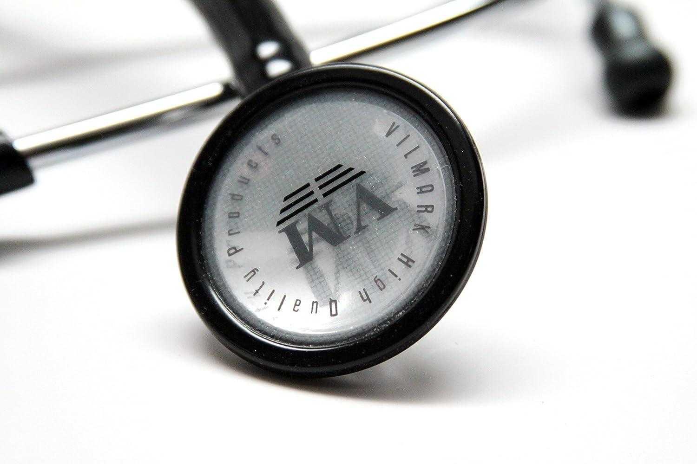 New Professional One Sided Cardiology Stethoscope Black Vilmark B