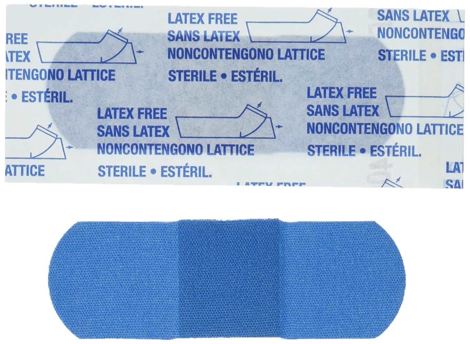 American White Cross-1631025 Blue Metal Detectable Adhesive Strips, Sterile, Lightweight 1