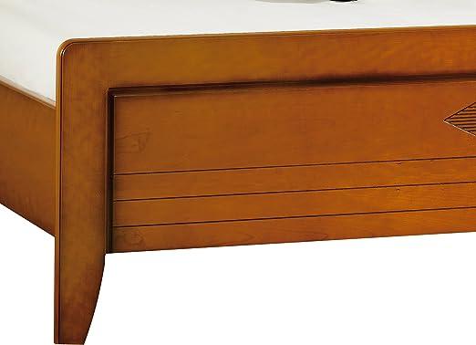 Destock Muebles Cama Cerezo 90x190 Respaldo Alto Cúpula ...