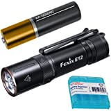 Fenix E12 v2 160 Lumen Compact 1xAA EDC Flashlight with LumenTac Battery Organizer