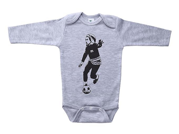 997bd2c6c Amazon.com  Baffle Bob Marley Playing Soccer Baby Onesie Marley Unisex  Infant Bodysuit  Clothing