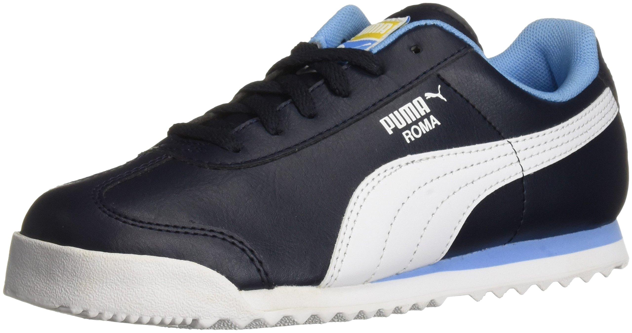 PUMA Unisex-Kids Roma Basic PS Sneaker, Night Sky White, 1.5 M US Little Kid
