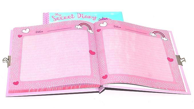 1 agenda secreta A6 con candado para niñas, diseño sin fecha ...