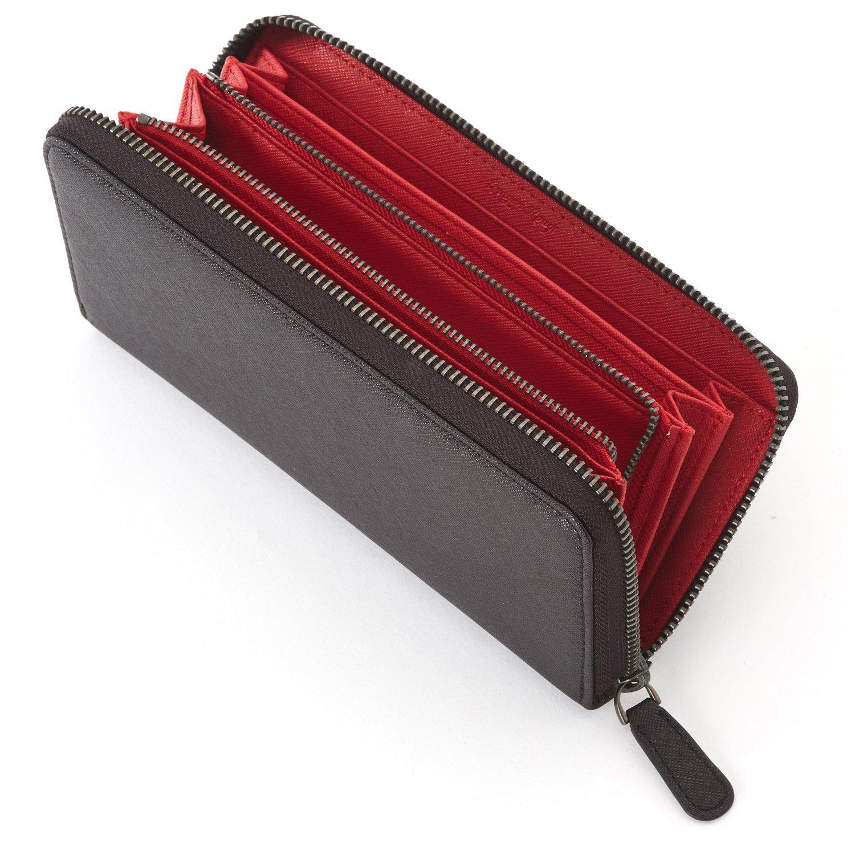 (Crayon Rouge) 長財布 ラウンドファスナー メンズ B071RNBQZZ レッド