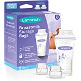 Lansinoh Breastmilk Storage Bags, 100 Count (1 Pack of 100 Bags), Milk Freezer Bags for Long Term Breastfeeding Storage, Pump Directly into Bags, Nursing Essentials