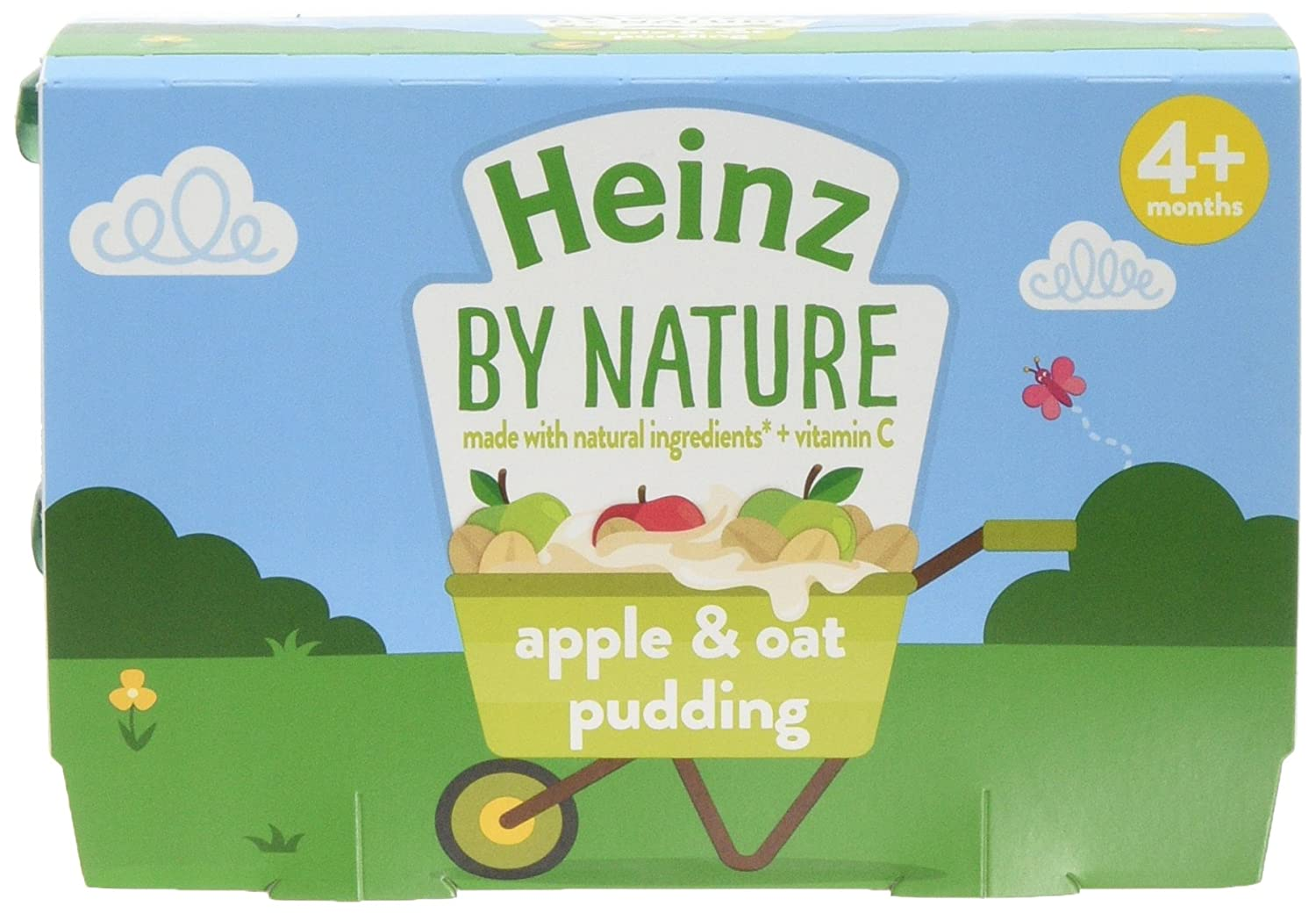 Heinz Apple with Oat Pudding Dessert Pot, 4 x 100 g (Pack of 3) The Kraft Heinz Company 76011072